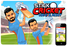 Stick Cricket: Virat & Rohit - Available on iOS and Android!